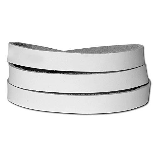 SilberDream Lederarmband weiß Herren Leder Armband Echtleder mit Metallschließer LA0127W