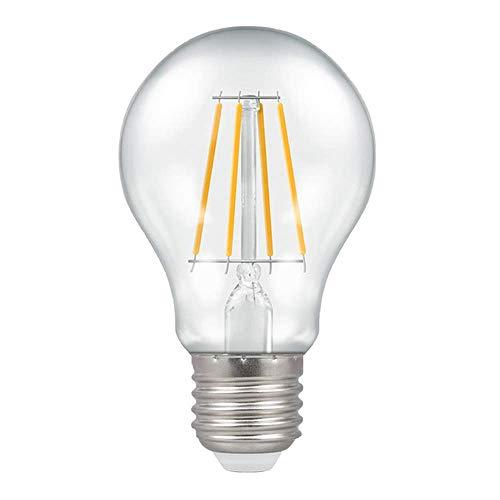 Crompton Lampadina LED dimmerabile GLS trasparente 7,5 W E27 ES 2700 K bianco caldo 60 W equivalente lampadina a incandescenza 806 lumen a risparmio energetico lampadine LED Edison a vite