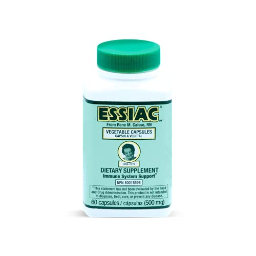 ESSIAC All-Natural Herbal Extract Capsules – 60 capsules | Powerful Antioxidant Blend to Help Promote Overall Health & Well-being | Original Formula since 1922