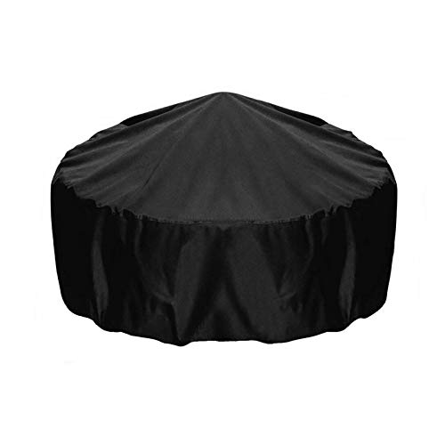 YISHEN Fire Pit Cover,Waterproof Square-Gas Firepit Table Cover,Outdoor Heavy Duty Lawn Patio Furniture Covers with Air Vent and Handle, 34Lx25H