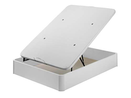 Santino Canapé Abatible Wooden Gran Capacidad Blanco 150x190 cm con Montaje a Domicilio Gratis