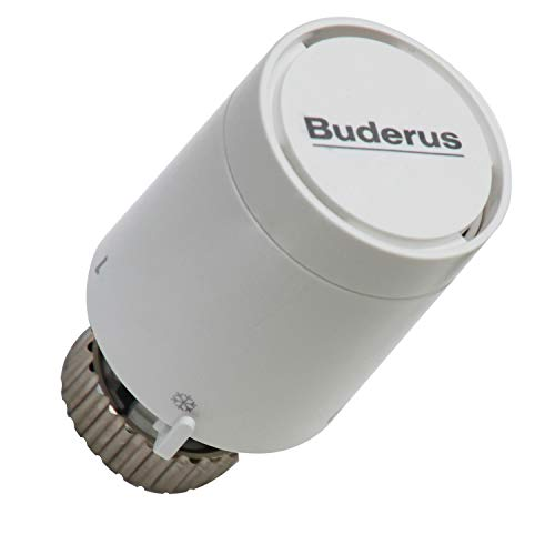 Buderus Thermostatkopf BH1-W0 mit Gewindeanschluss M 30 x 1,5 mm, Festfühler und Nullstellung 7738306437