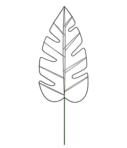 Dehner Rankhilfe Monstera, ca. 120 x 40 x 6 cm, Metall, dunkelgrün