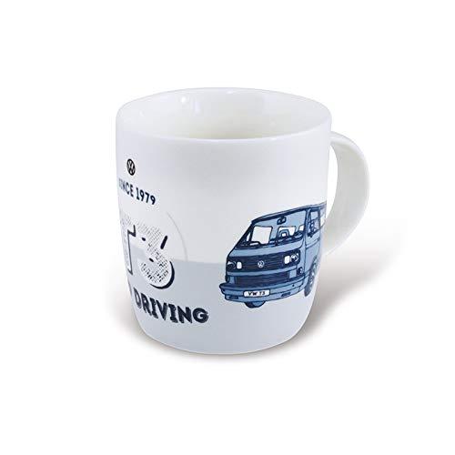 BRISA VW Collection - Volkswagen T3 Bulli Bus Kaffee-Tee-Tasse-Becher für Küche, Werkstatt, Büro - Camping-Zubehör/Geschenk-Idee/Souvenir (Motiv: Front/Keep Driving)
