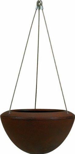 Esteras hangende bloempot, glasvezel, warm beton Ø 37 cm roest