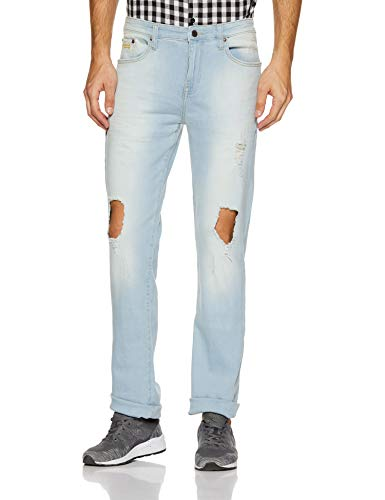 AEROPOSTALE Men's Straight Fit Jeans (AE1002603176_Light Wash_30W x 34L)