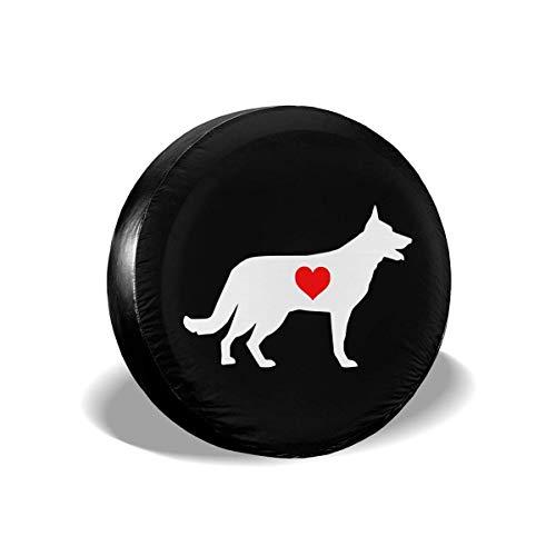 Enoqunt Duitse herderhond met Heart-1 reservewieldop geschikt voor Jeap RV Trailer en vele voertuigen