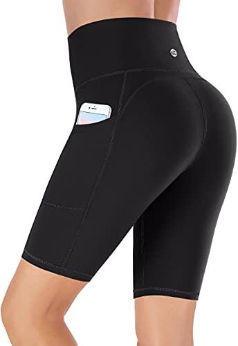 Ewedoos Shorts Damen mit Taschen Sporthose Damen kurz Sport Shorts Kurze Hose Damen Sport Leggings Damen High Waist Radlerhose Laufhose (8