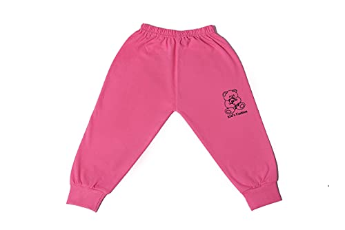 Soft Cotton Track Pants Pajama Baby Boy's & Girl's Regular Fit Kid's Fashion (Pack of 6) (9-12 Months)