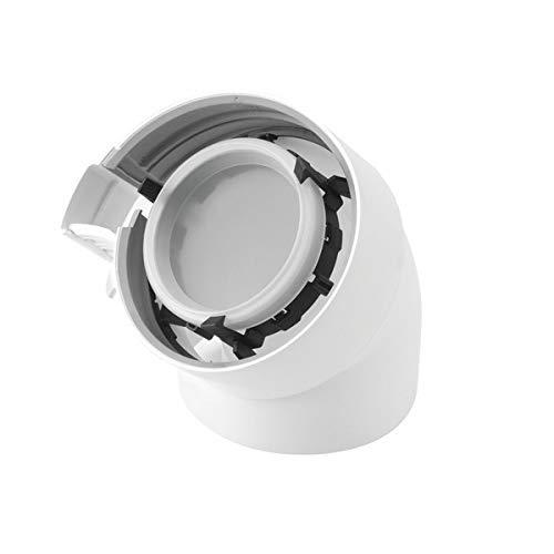 Ubbink - Conducto para caldera ventosa - Codo 45° condensación fuel/gas - : 229200