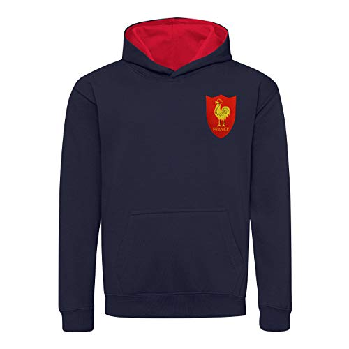 Print Me A Shirt Enfants rétro Français Cockrel Rugby Sweat à Capuche - - Medium/ 76 cm 7/8yrs