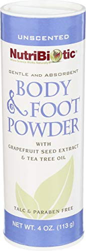 Natural Body Powder Pied, Unscented 4 oz (113 g) - NutriBiotic