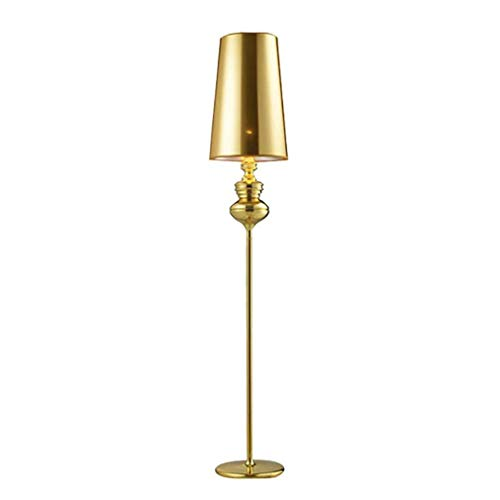 Tatane staande lamp, moderne stijl, goudkleurig, creatief licht, PVC, vloerlamp, uplighter, voor kantoor, werkkamer, woonkamer, leeskamer, slaapkamer, staande lamp, metaal