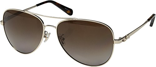 COACH 0HC7074 Light Gold/Brown Gradient Polarized One Size