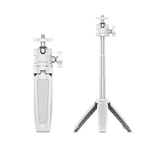Yifant Extended Mini Handle Tripod for GoPro Hero 8/7 / 6/5 Black/Xiaoyi 4K Action Camera and Cellphone Expansion Accessories with 1/4 inch Screw Handle Selfie Stick Monopod White