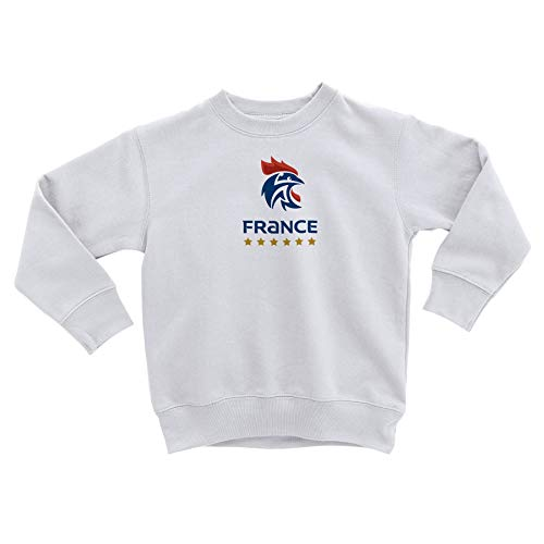 Sweatshirt Enfant Blason France Handball Equipe National Embleme Sport