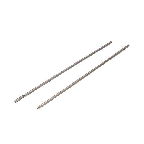 Utoolmart Brocas de destornillador magnético PH2 Phillips de 5 mm de vástago redondo de 300 mm de longitud de 5 mm
