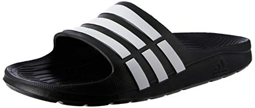 adidas Duramo Slide, Chanclas Unisex Adulto, Negro (Black/White/Black), 40.5 EU