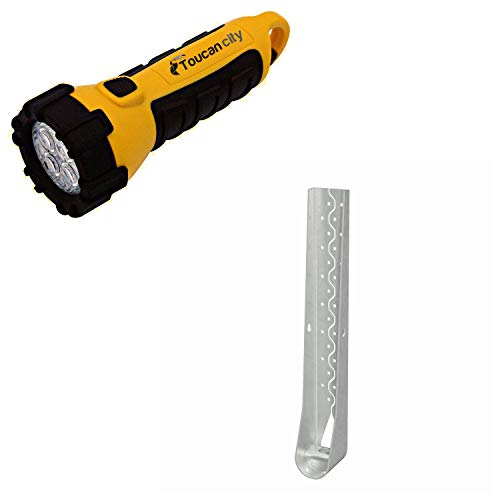 Toucan City LED Flashlight and Simpson Strong-Tie HDU 22-1/4 in. Hot-Dip Galvanized Predeflected Holdown with Strong-Drive SDS Screws HDU11-SDS2.5HDG