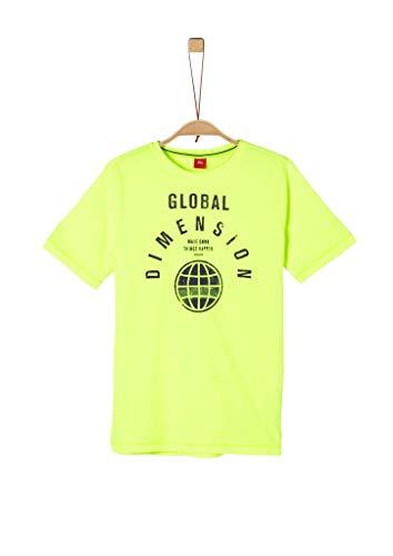s.Oliver Junior Jungen Kurzarm T-Shirt, 0071 Neon Yellow, XL/REG