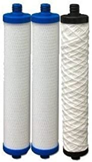 Tools & More Hydrotech 41400008/41400009 Replacement Reverse Osmosis Water Filter Cartridge Set Model: HYDROTECH-41400008-41400009-ASSEMBLY