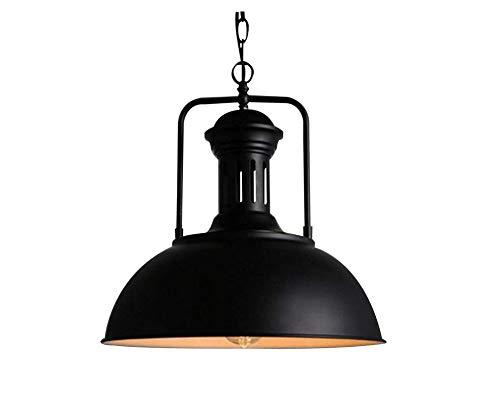 Lámpara LED de techo colgante industrial vintage metal Bowl Shade 1 luz lámpara de techo negro