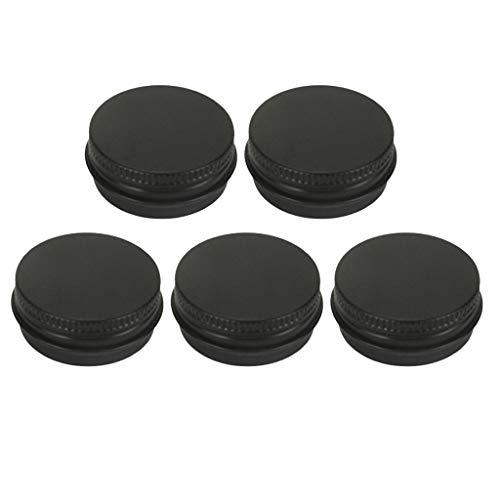 perfeclan 5pcs Pot en Aluminium Rond Bocaux avec Couvercle pour Cosmétiques/épices/Thé/Perles/Boutons/épingles/Vis - 15ml