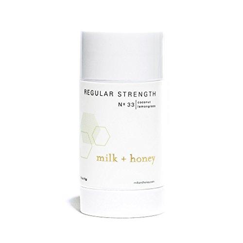milk + honey Regular Strength Aluminum Free Deodorant No. 33, Coconut Lemongrass, 2.6 Ounce