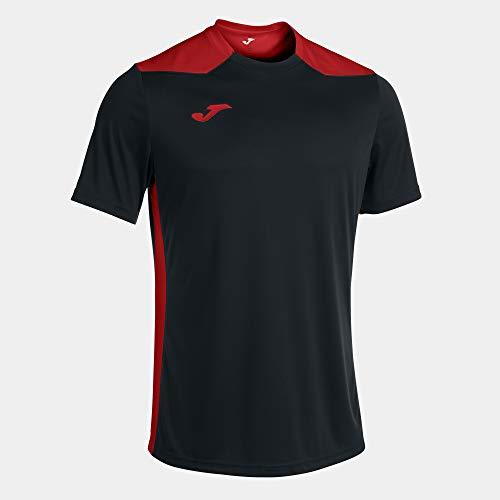 Camiseta Manga Corta Championship Vi Negro Rojo