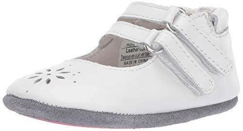 Robeez Girls' Mary Jane-Mini Shoez Crib Shoe, White, 12-18 Months M US Toddler