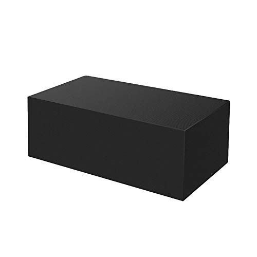 BaoBaJiu Funda para Muebles de Jardín con Cordón, Cubierta de Mesa para Exteriores Impermeable, Anti-UV, Resistente a la Nieve, Cubierta para Juego de Patio, Negro (185x117x170cm(73x46x67in))