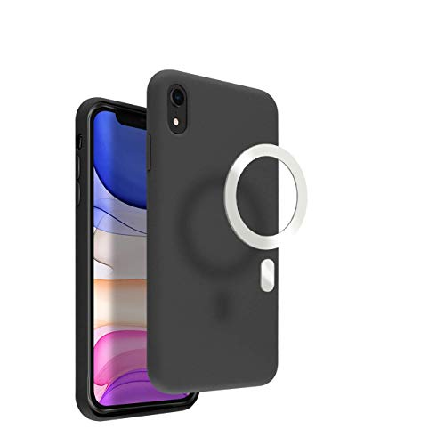 VECI iPhone X/XS Magnetic Case, Compatible with MagSafe Accessories, Soft Touch Silicone (iPhone X/XS, Black)