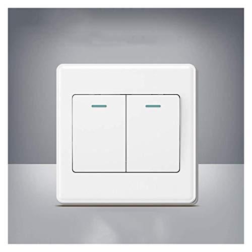 Interruptor de luz Encendido/Apagado Interruptor de luz, Interruptor de luz de Pared de Panel de Interruptor, Larga Vida útil, Interruptor de iluminación de Pared 86, Interruptor de la casa fácil de