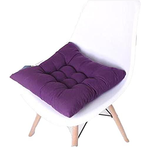 LLMY Cojines para palets Almohada de Piso Cuadrada de Color sólido, Cojín de Asiento Grueso, Tela de Tela, Relleno de Fibra, para Piso, Sala de Estar, Terraza(Size:50 * 50cm,Color: Purple)