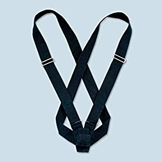 MAS Black Double Web Sling Carrying Belt Color Guard Parade Flagpole Holder