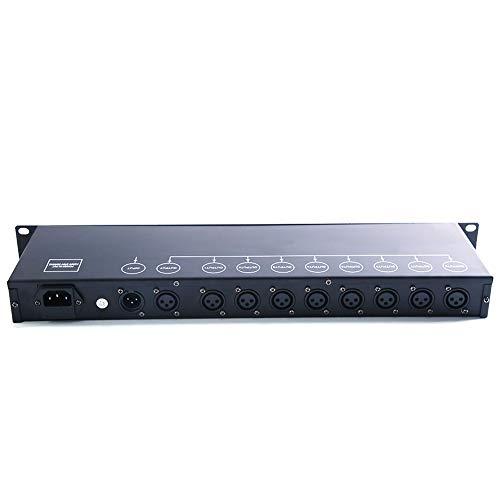 Atenuación DMX512 óptico Splitter Actúa como DMX512 Distribución para Iluminación de Escenarios 8 Canales Salidas Independientes Escenario Performance Bar de Bodas Destello