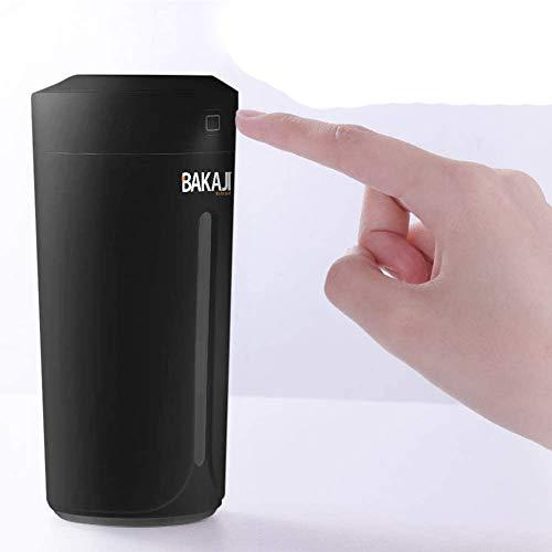 Bakaji Umidificatore Ambiente Diffusore Aromi USB con Luce LED 7 Colori Profumo Ambiente Aromaterapia Portatile Casa Auto Serbatoio 230 ml (BIanco)
