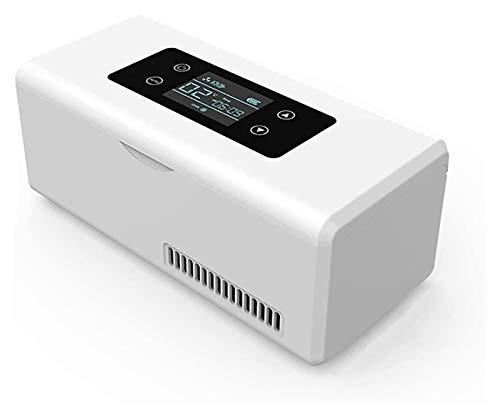 SHUHANG La Caja de Enfriador de insulina portátil Que conserva el refrigerador del Enfriador de miniinsulina Mantiene la medicación de la Diabetes. (Color : White, Size : 20.7x9.4x9.1cm)