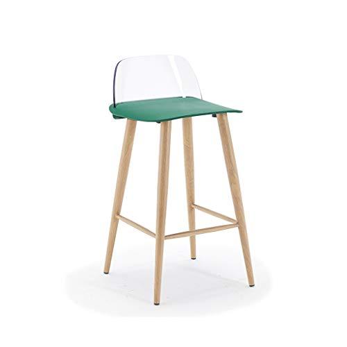 Moderner Minimalistischer Plastikbarhocker Des Festen Holzstuhls Haupthochtisch, Der Stuhlhocker Speist (Farbe : Green)