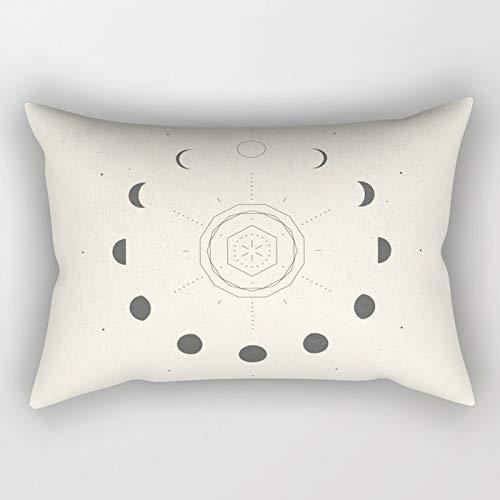 Yuanmeiju Moon Phases Light Rectangular Funda de Almohada Fundas de colchón 20x30 Inch