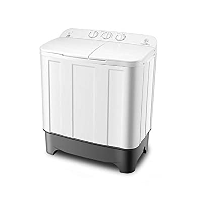 MOUTALE Portable Twin Tub Electric Mini Compact 8.8kg Large Capacity +6.0kg Drying Capacity Washer Washing Machine Spin Dryer