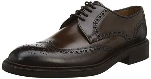 Lottusse L6724, Zapatos de Cordones Brogue Hombre, Negro (Jocker Old Teak Jocker...