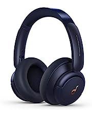 Soundcore by Anker Life Q30 Bluetooth-hörlurar, Hybrid Active brusisolering, individuella lägen, Hi-Res ljud, EQ i App, 40-timmars batteri, bekvämt grepp, anslutning av 2 enheter (blå)