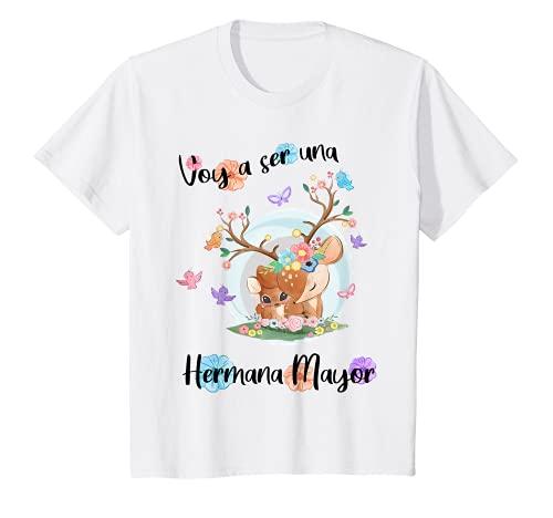 Niños Voy a ser Hermana Mayor 2022 Corza Anuncia Embarazo Camiseta