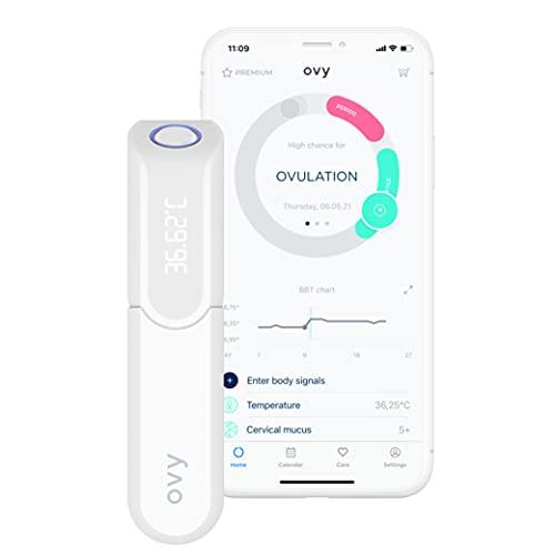 Ovy® Bluetooth Basalthermometer zur Zykluskontrolle I Eisprung-Messgerät zur Berechnung fruchtbarer Tage bei Kinderwunsch (NFP) I hormonfreie Empfängnisregelung I +App (Datenspeicher in Deutschland)