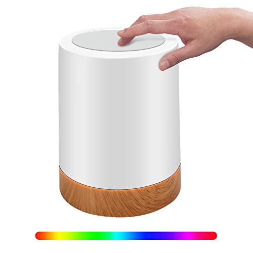 Luz nocturna LED, con control táctil, lámpara de mesa LED, recargable por USB, modos de color RGB regulables; para bebés, dormitorio de niños, oficina, camping, etc