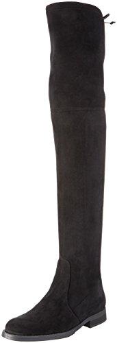 Buffalo London Damen 2870 Micro Strech Langschaft Stiefel, Schwarz (Black 01), 37 EU