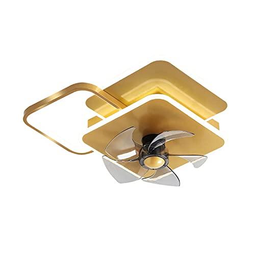 Luces de ventilador, Luces de ventilador de techo en el hogar invisibles, lámparas modernas (Size : A)