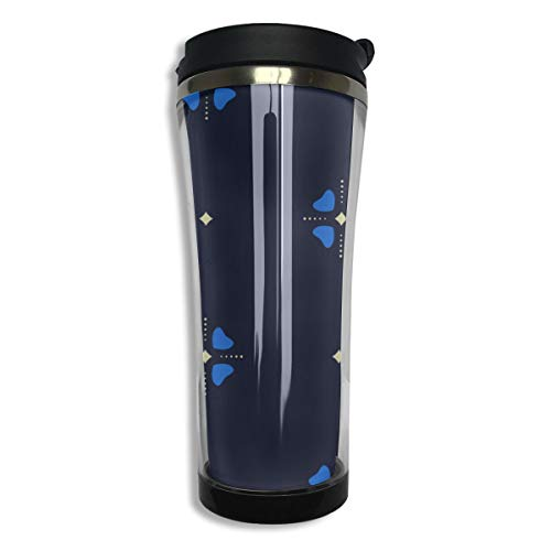 14oz Double-layer Vacuum Insulated Coffee Mug With Lid 304 Stainless Steel Best Coffee Mughhh Fun Windmill Animation Toy Four Leaf Travel Tea Mug For Men Women
