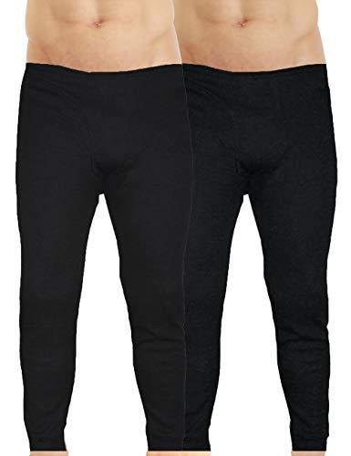 LisaModa Herren Thermounterhose 2er Pack Winter Leggings (XL, Schwarz)